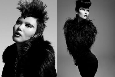 Black swan in fur by Lady Fur