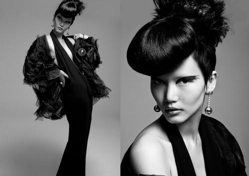 Black swan in fur by Lady Fur