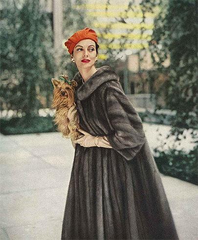 fur in some vintage photos Lady Fur