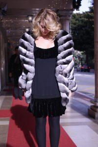 chinchilla coat lady fur