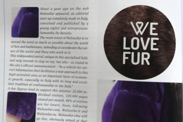 WELOVEFUR IS ON LA PELLICCIA IN MOSTRA MAGAZINE