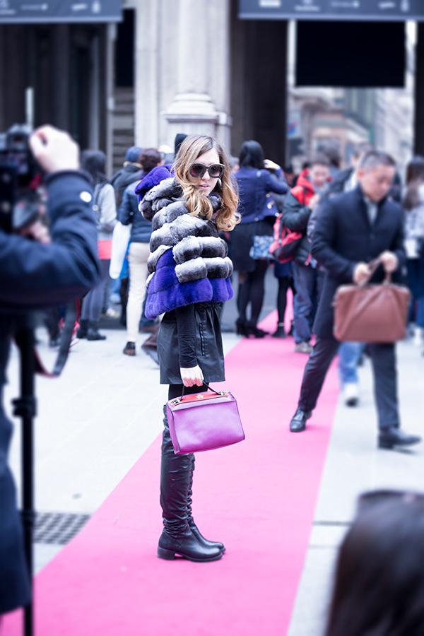 ladyfurchinchilla_milanfashionweek_chinchilla_strategia_leatherboots_giancarlopetriglia_leather_purse