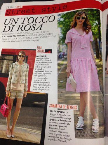 samanthadereviziis, pink dress, graziamagazine
