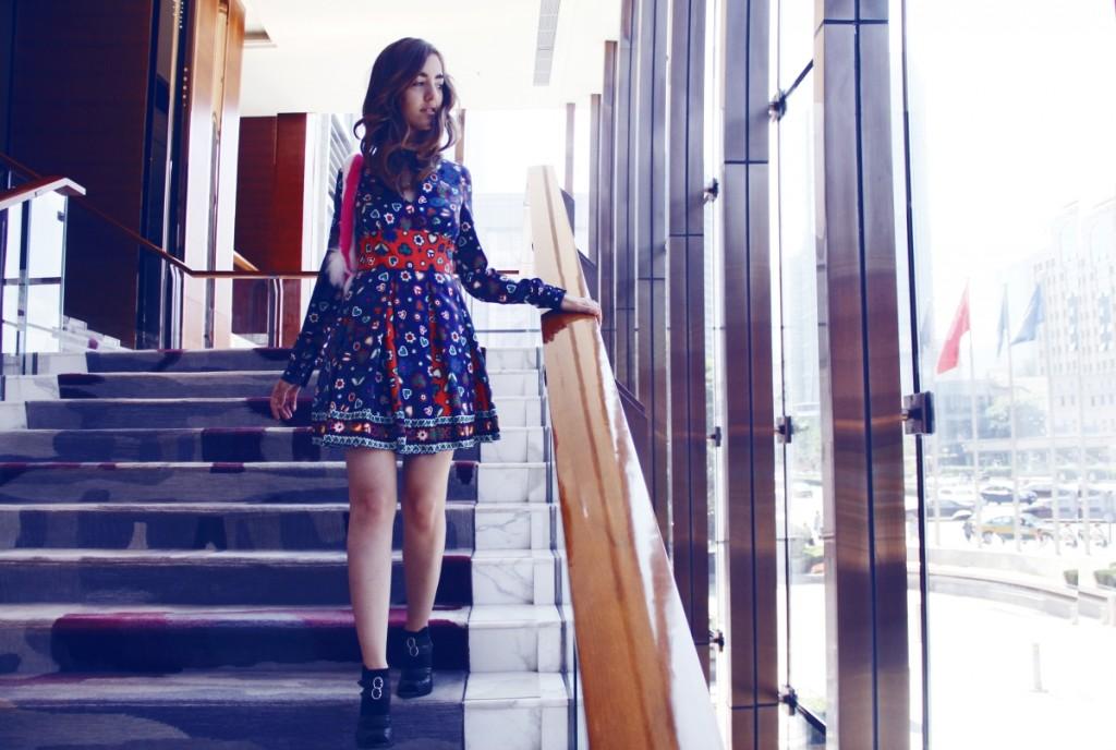 fashion blogger lady fur, beijing