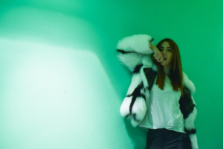 LADY FUR AT MAURO GRIFONI EVENT