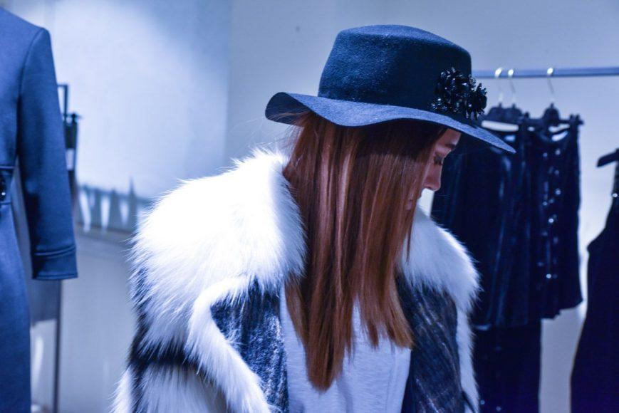LADY FUR IN SAGA FURS COAT AND MAURO GRIFONI HAT