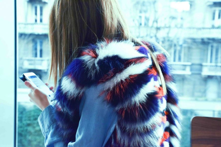 Lady Fur in Vladimiro Gioia Fur coat NY2015