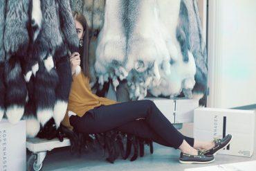 fox skins lady fur