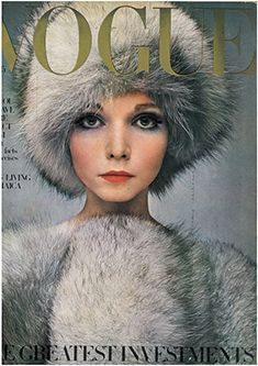 Vogue old cover with fur