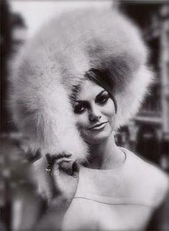 Vintage fur hat fashion