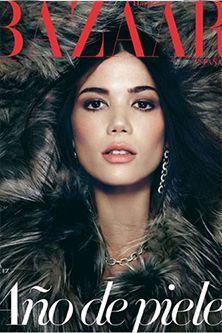 Fur Model inside Bazaar Magazine