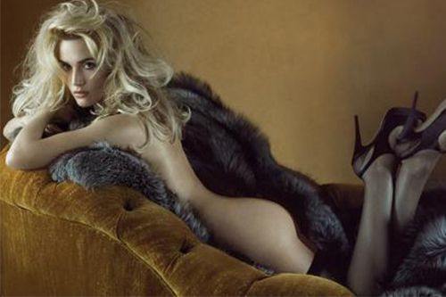 Top model with fur vest