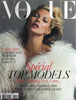 Top models with fur on Vogue Magazine