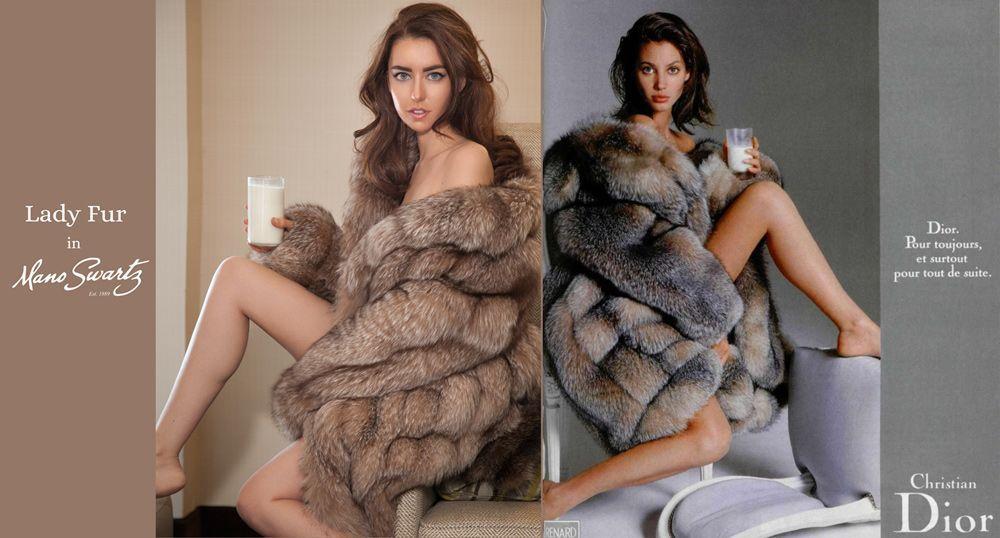 mano swartz lady fur fox coat