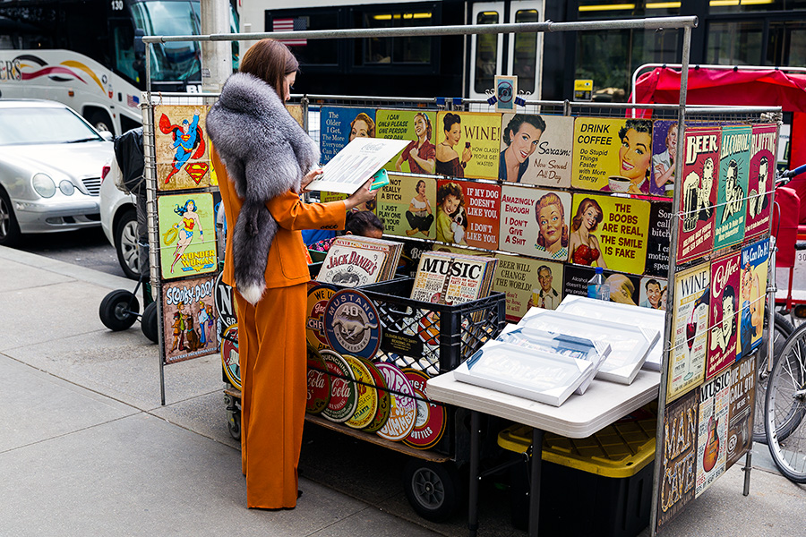 lady fur reading posters