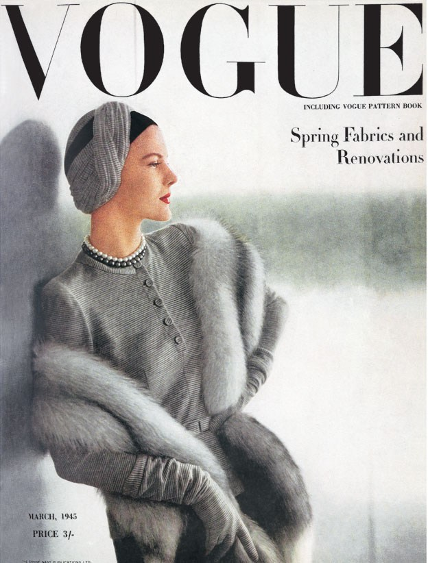 vogue cover model in grey