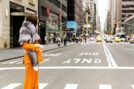for stole orange suit max mara lady fur