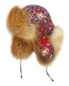 fur trapper hat lady fur