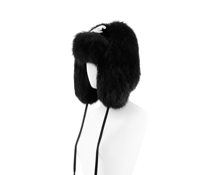 chanel fur trapper hat lady fur