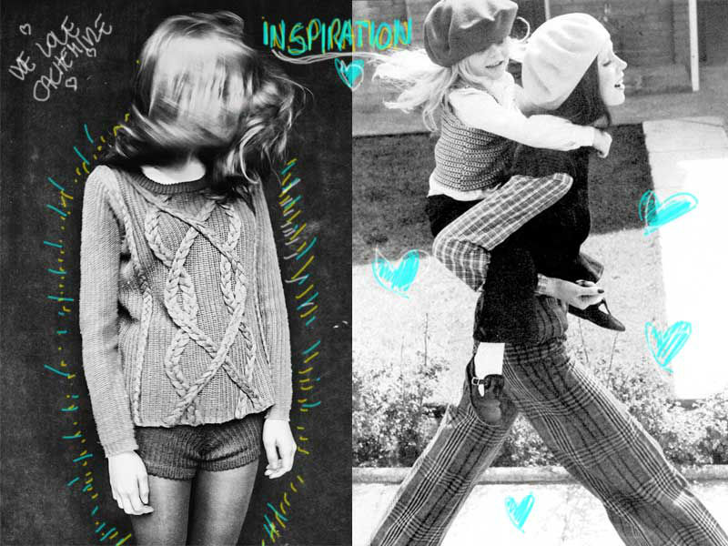 fashion moodboard vintage cashmere