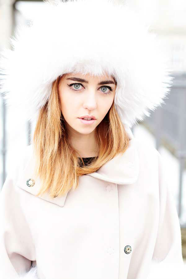 fur trapper hat white fox lady fur