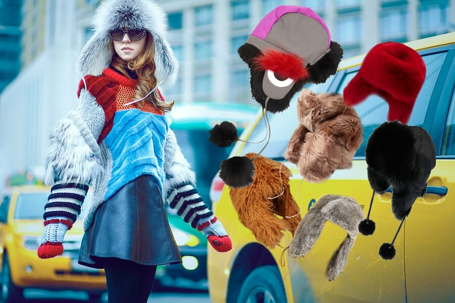 trapper hat lady fur new york