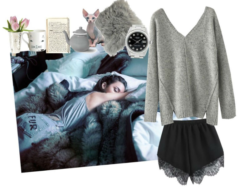 polyvore set lady fur