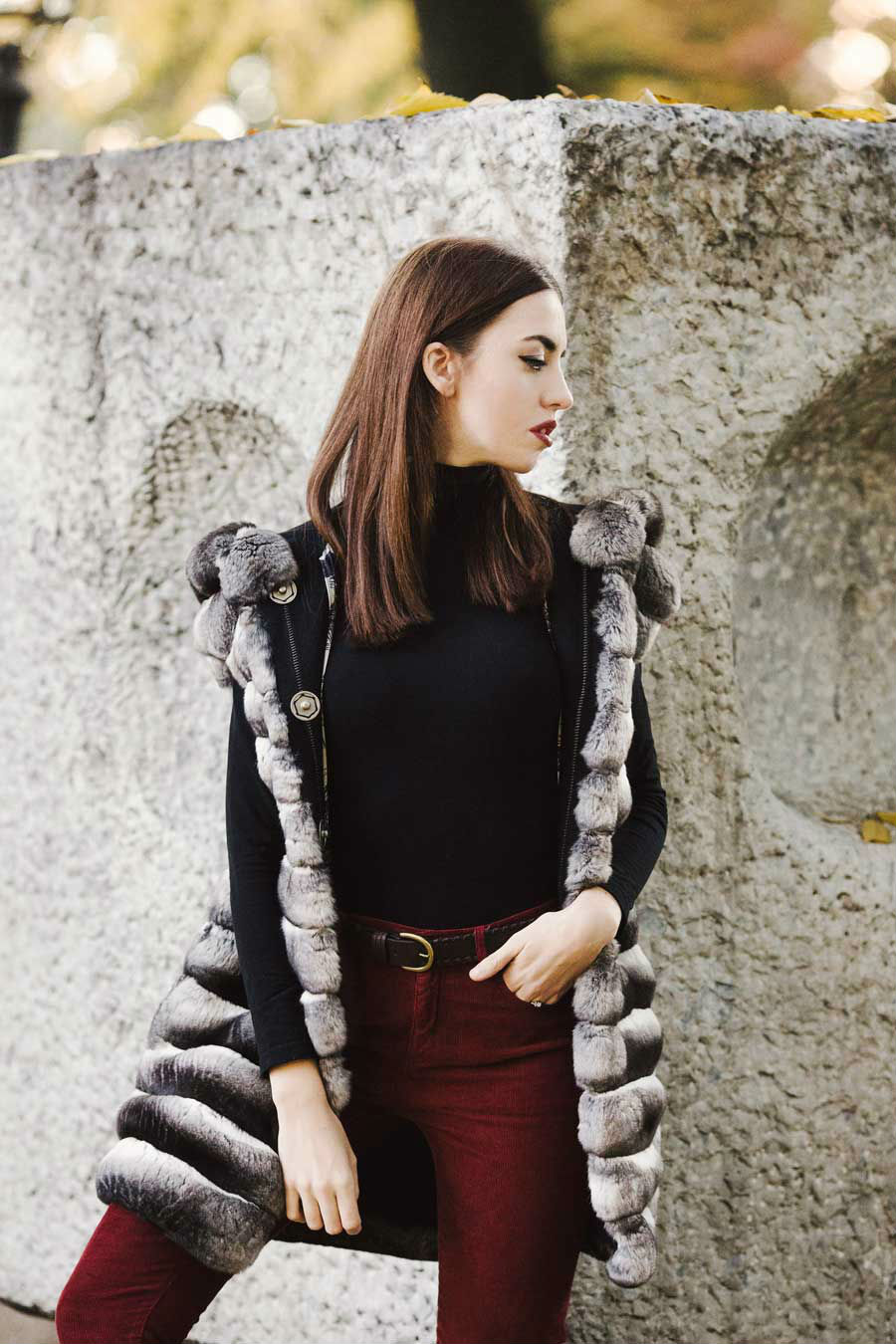 chinchilla coat milan