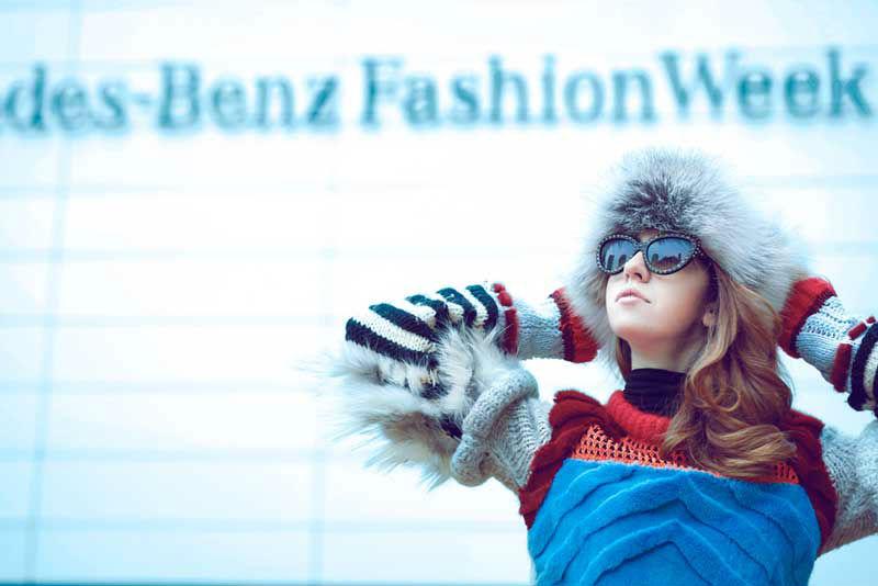 fox fur hat on lady fur in new york fashion week 2015
