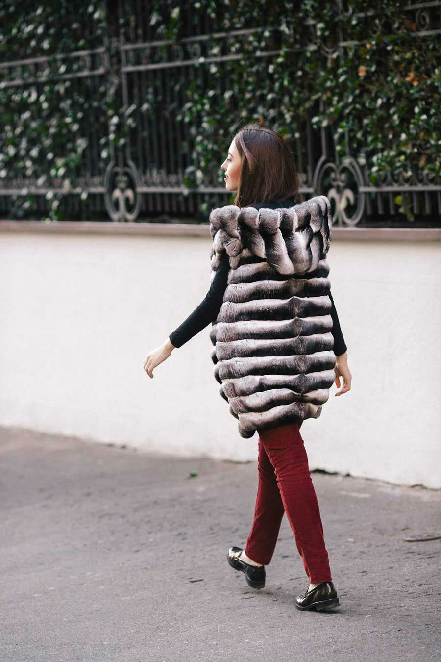 chinchilla coat lady fur