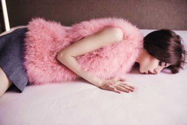 pink fur vest