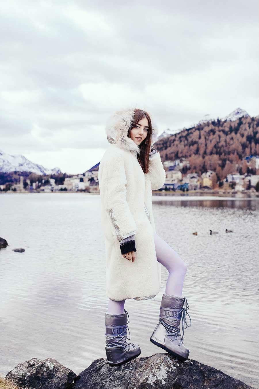lady fur style st moritz