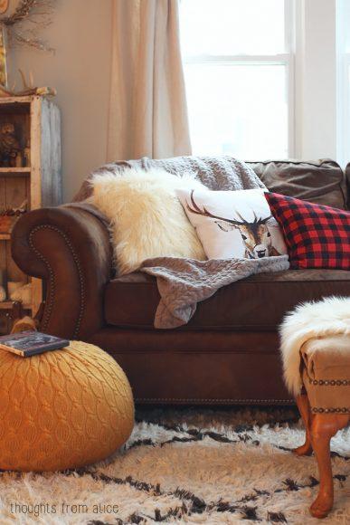 fur cushions