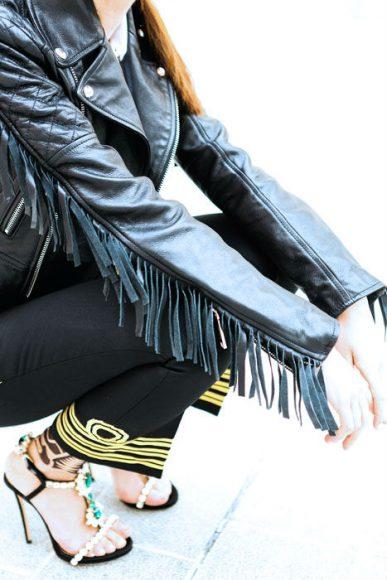 Dsquared2 leather jacket details
