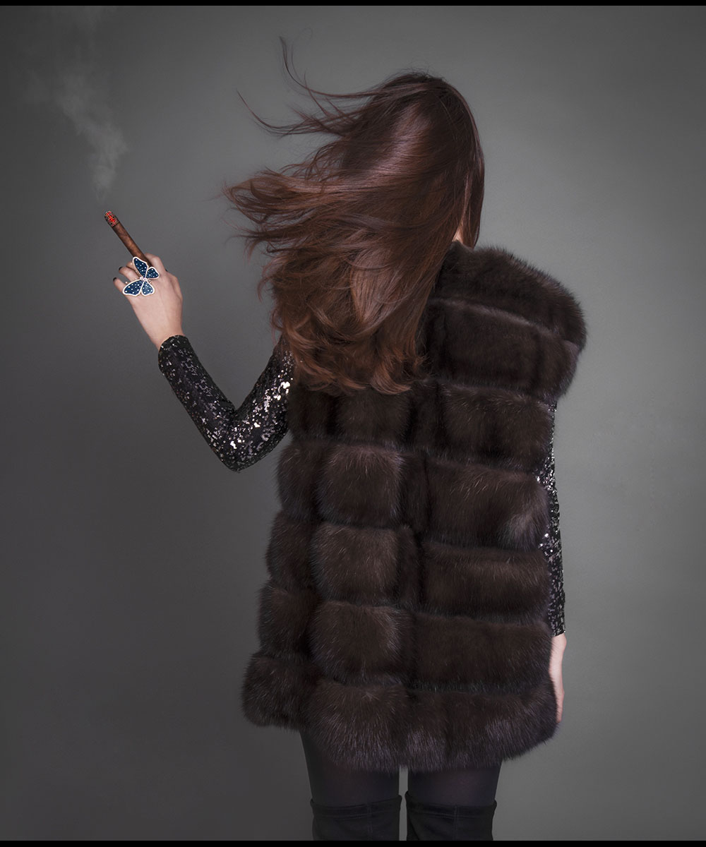 fur sable busatti butterfly ring opera