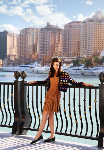 Lady Fur is wearing Drome Leater Jacket MMissoni dress Le Capresi Shoes
