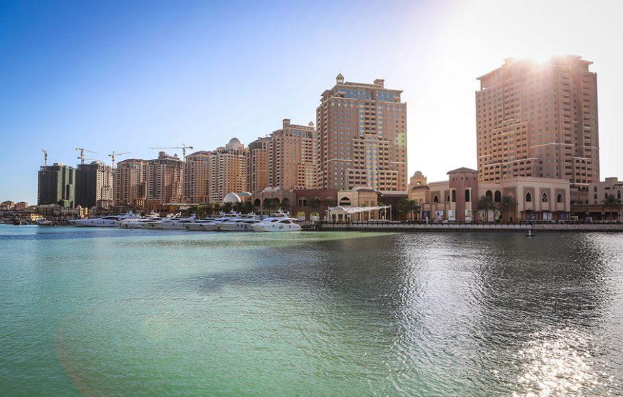 The Pearl Qatar Island doha lady fur missoni