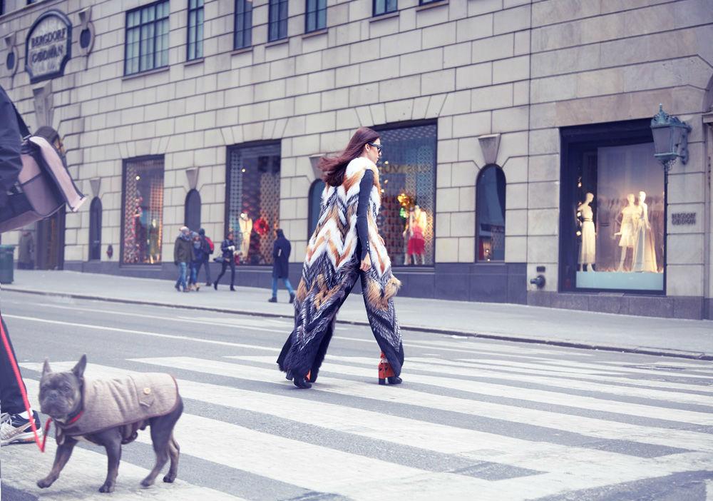 Fox fur vest NYFW VIA CAPPELLA