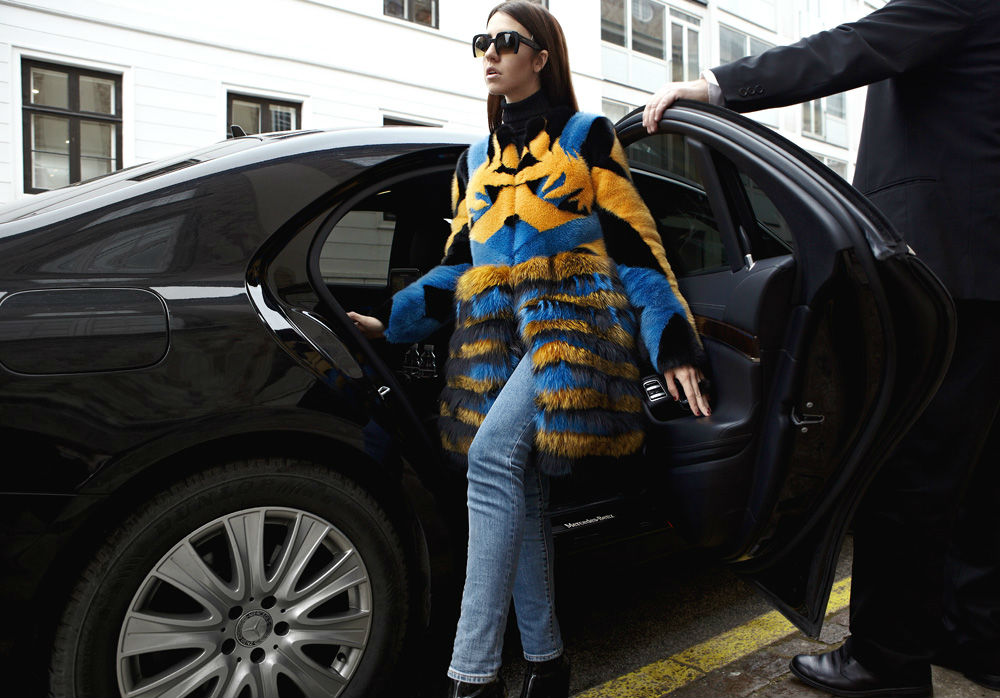 car with driver copenhagen fur