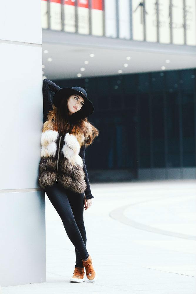 punto fox fur vest