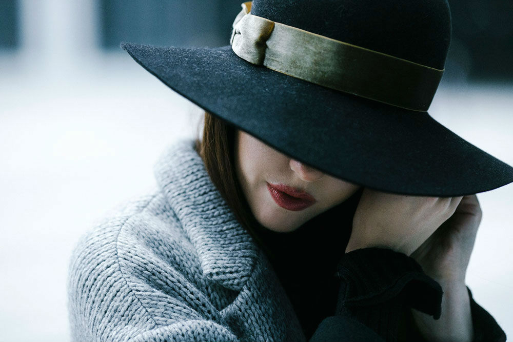 borsalino hat lady fur