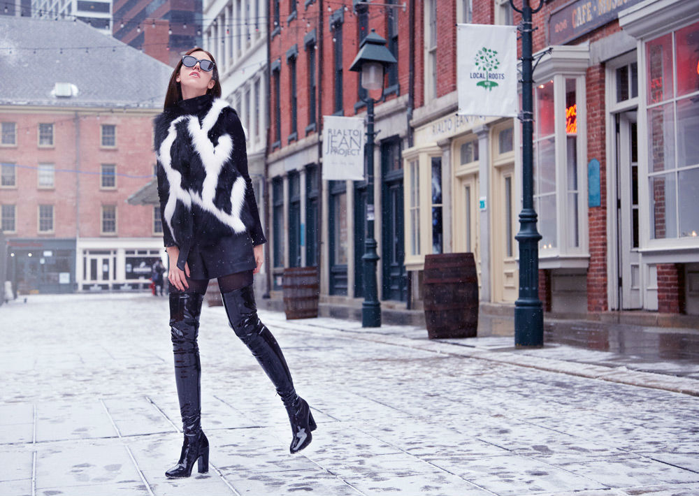 fox vest volpi confezioni lady fur new york fashion week