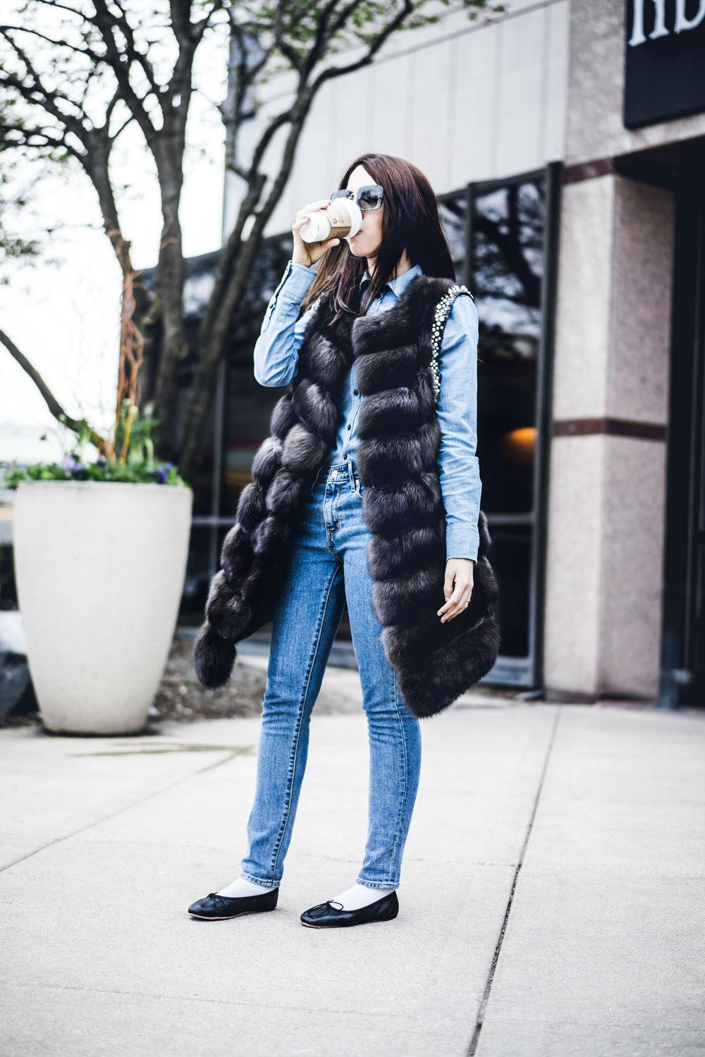100k instagram followers lady fur sable fur coat