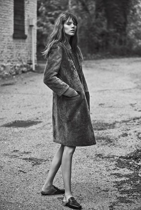 freja beha photo black and white with shoes
