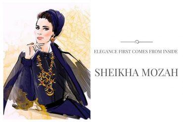 sheikha mozah fashion illustration