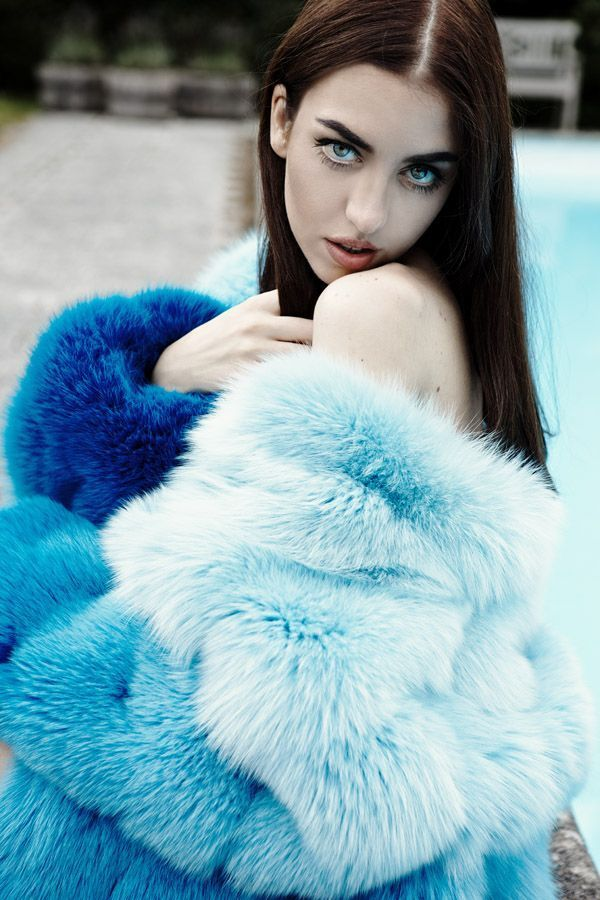 blue fox fur lady fur