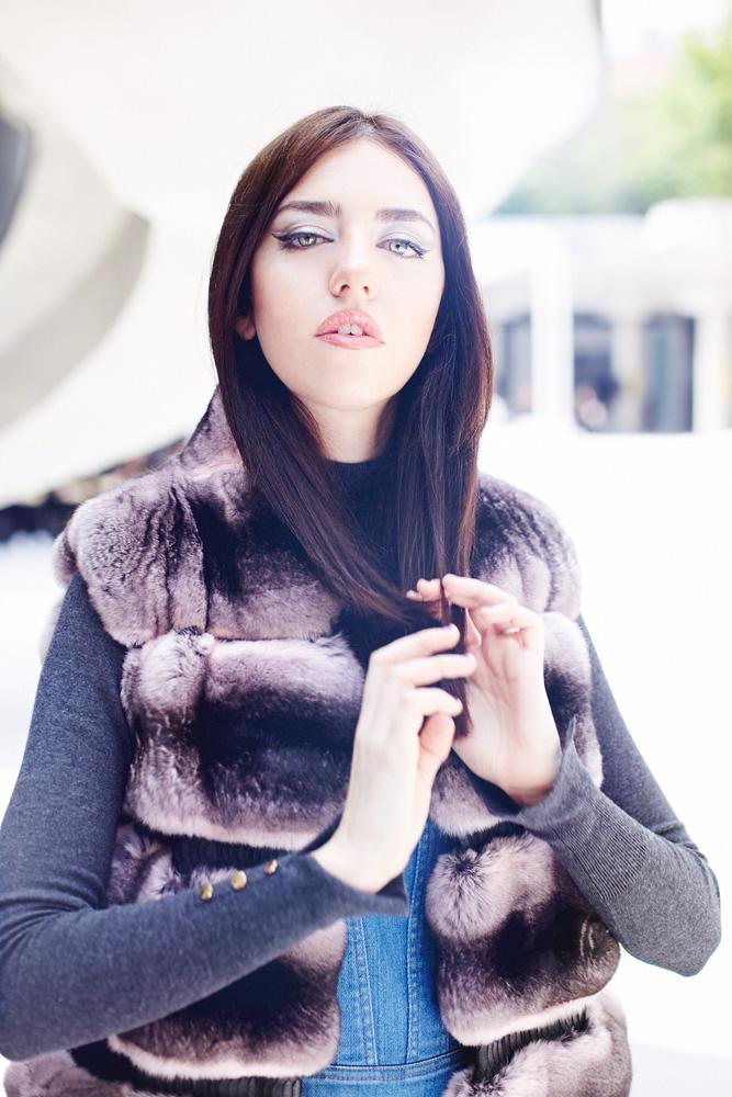 chinchilla vest fur