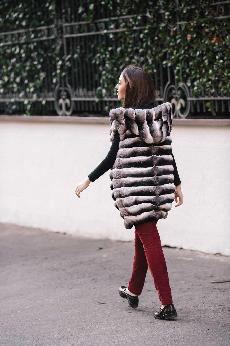 chinchilla vest