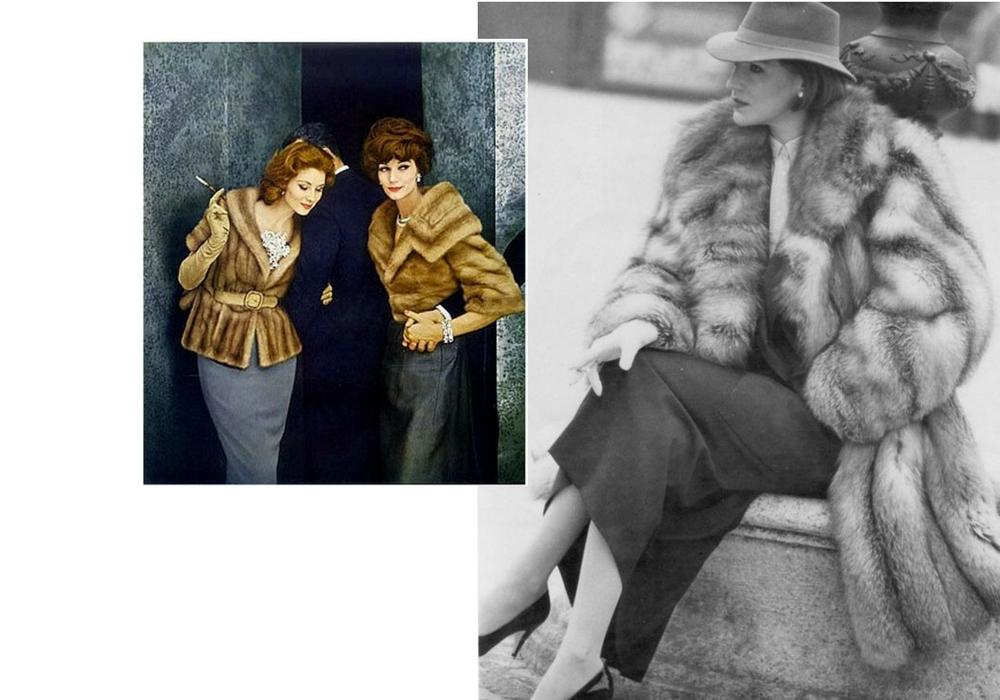 fur coats fashion campaign
