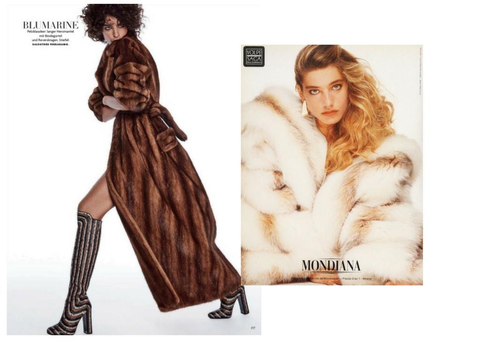 fashion fur photos 1990